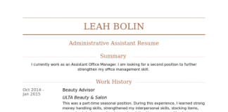 beauty consultant resume | Girly Mind | MyJob.News